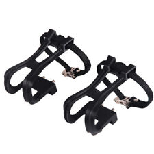 Mtb Mountain Road Bike Bicycle Plastic Pedal Flat Non Slip With Toe Clips Straps