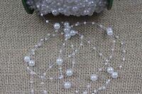 1 Metre of Pearl String Trim - Wedding, Craft, Hair, Cake [BUY 3 GET 3 FREE]