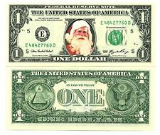 LE PERE NOËL - VRAI BILLET de 1 DOLLAR !! IDEE CADEAU ORIGINALE - Collection usa