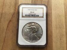 1996 1oz Silver American Eagle NGC MS69