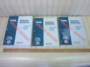 1998 Cadillac DeVille, Eldorado Shop Manual 3 Volume Set OEM