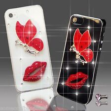NEW DELUX DIAMANTE BUTTERFLY DIAMOND CASE COVER 4 SAMSUNG iPHONE SONY HTC 5 6 S6