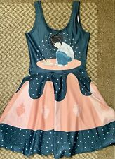 Living Dead Clothing L Lawliet Death Note Anime Skater Dress Size Small RARE