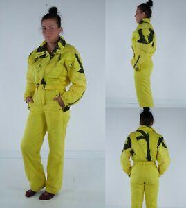 KITEX WORLDWIDE Vintage Womens Yellow Ski Suit One Piece Snowsuit SIZE Medium
