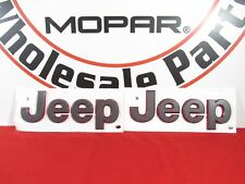 JEEP WRANGLER JL RUBICON Fender Nameplates Set Of 2 Gray With Red Outline OEM