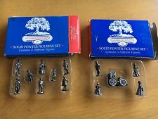 Lot of 2 Harmony Grove Collection Solid Pewter Victorian Figurines (5 + 8)