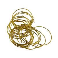20pcs 50mm Runde Bördelnde Band-Schleifen-Brisur-Ohrring-Entdeckungen Gold