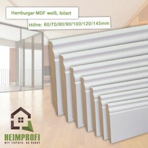 Alt Berliner | Hamburger Profil MDF Fußleiste, Sockelleiste, weiß, 19mm | 2500mm