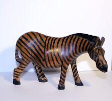 Vintage Wooden Zebra by Wicker Works in Ames, Iowa, Vintage Animal Decor