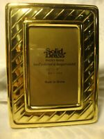 """Vintage Solid Brass Photo Frame 3.5"""" x 5"""" Hand Polished & Lacquer Coated     396"""