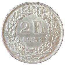 2 Francs Helvetia argent 1963