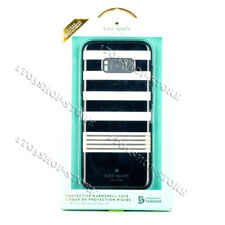 Kate Spade Hard Snap Cover Case for Samsung Galaxy S8 Stripe 2 Gold/Black/Cream