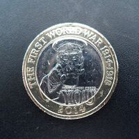 LORD KITCHENER 1914 to 2014 WW1 ANNIVERSARY £2 POUND COIN RARE COLLECTABLE COIN