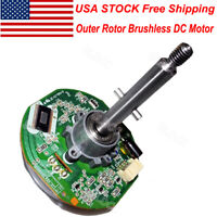 USA High Torque DC 12V 24V PWM Outer Rotor Brushless DC Motor Built-in Driver EL