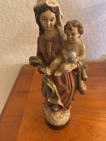 Madonna Holz Handgemalt Handgeschnitzt Wolkenmadonna Mit Jesuskind
