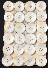 24 Large 2cm Vintage 1930s Hand Cut Mother of Pearl Buttons