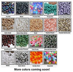 6/0 Czech Beads 10-Grams Glass Seed Beads UR PICK