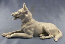 ac schäferhund Hund hundefigur porzellanfigur Heubach figur weißer schäferhund