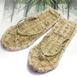 2019 Unisex Summer Handmade Hemp Straw Slippers Sandals vintage Espadrille