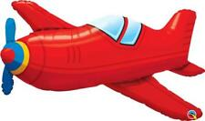 Red Vintage Airplane Supershape 36 Inch Foil Balloon