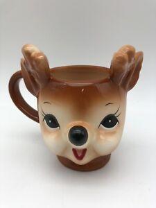 Pottery Barn Holiday Christmas Reindeer Mug Cheeky Cup
