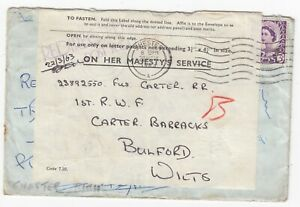 Royal Welsh Regiment 1963 Dempsey Rd Singapore Redirected Cover POST NCO Bulford