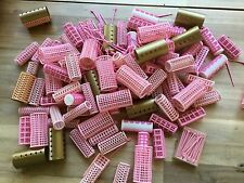Large Lot Nesting Stack Plastic Curlers Hair Rollers Womens Hair