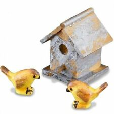 Garden Birdhouse Set 1.744/5 Reutter Weathered Dollhouse Miniature