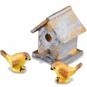 Garden Birdhouse Set 1.744/5 Reutter Weathered Dollhouse Miniature