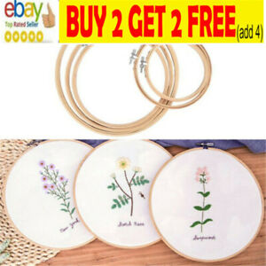 4/5 Pcs/Set Bamboo Hand Embroidery Cross Stitch Ring Hoop Frames Top Quality NL