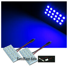2X Unverisal Interior Light LED HID Panel Bulb Dome Map Trunk 18 Chips SMD BLUE