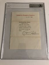 Autographed Katharine Hepburn Signed Letter Beckett Certified