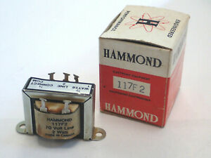 HAMMOND 117F2 AUDIO SOUND DISTRIBUTION LINE MATCHING TRANSFORMER 70V 2W 8Ohm NEW