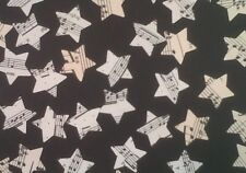 """500 x 1"""" STAR Vintage Music Sheet Table Confetti Weddings Christmas Toppers"""