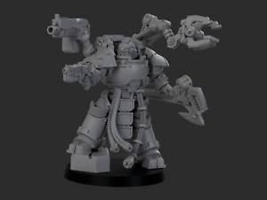 Sci-Fi 28/30mm Techmarine Tech Gunner - Compatible w/ Warhammer 40k Space Marine