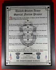 Mc-Nice: Army Special Forces Prayer All Groups Framed Personalized