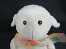 INTER-AMERICAN WHITE SHEEP LAMB EASTER JELLYBEAN BOW  PLUSH STUFFED ANIMAL TOY
