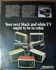 1971 Panasonic Portable Red/Gold/White TV/Television Ad