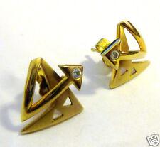 Goldohrringe Ohrstecker Bergkristall 375er Gold 9 kt GG Goldohrstecker Ohrringe