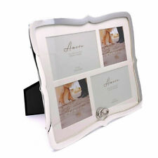 """Large Silver Plated Multi Wedding Photo Picture Frame 6"""" x 4"""""""