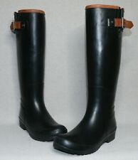 Sperry Top-Sider WOMEN'S Black Waterproof Walker Haze Tall Rain Boots Size 8 US