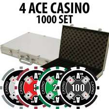4 Ace Casino Poker Chip Set 1000 Chips with Aluminum Case