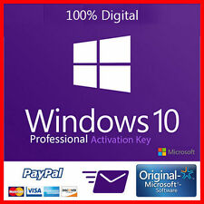 WINDOWS 10 PRO 32/64 BIT RETAIL KEY ONLY, LIFETIME LICENSE DIGITAL DELIVERY 100%