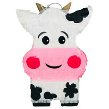 Happy and Smiley Face Farm Cow Pinata for Kid Partys