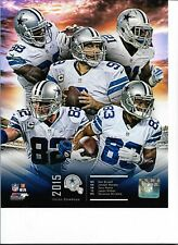 2015 DALLAS COWBOYS Licensed 8X10 TEAM PHOTO Romo Bryant Witten Randle
