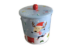 Christmas Decorated Metal Biscuit Container ,New