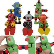 1 Pc Wooden Robot Learning & Educational Kids Early Learning Toy Fad FO