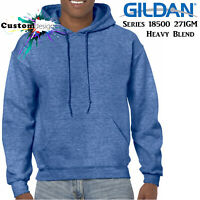 Gildan Heather Sport Royal Blue Hoodie Heavy Blend Basic Hooded Sweat Mens