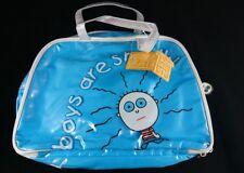 "David and Goliath ""Boys are Smelly"" - Blue Bowling Style Handbag W/ Tags!"