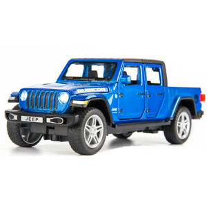 1:32 Jeep Gladiator Pickup Truck Model Car Diecast Toy Pull Back Vehicle Blue